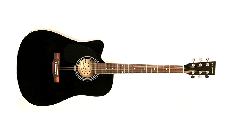 Thinline Black Acoustic Electric Guitar