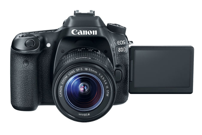 Best dslr with flip out screen EOS 80D